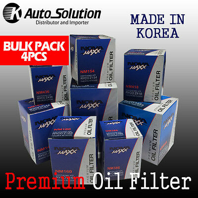 Premium Oil Filter Z145A SUITABLE FOR HOLDEN RODEO 3.0L RA TURBO DIESEL 4 PCS