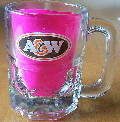 RARE Vintage A&W ROOT BEER Mug Drinking Glass Allen Wright Fast-Food Restaurant