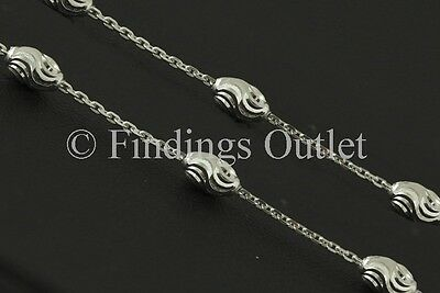 Sterling Silver 925 Italy 4.00mm Oval Typhoon Necklace Solid Nice Chain