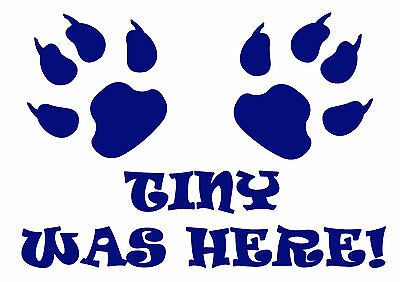 A3 Personalised Was Here! Pet Cat Dog Feeding Food Mat - Laminated -  Wipe Clean