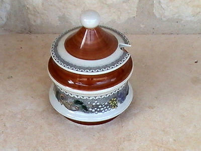 "Goebel ""Burgund"" Country Sugar Bowl w/ Lid Germany"