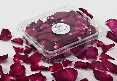 Dried Red Rose Petals,5 cups of natural petals for decoration. buy 5 get 1 Free!
