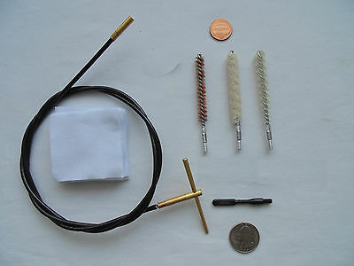 cable cleaning kit of rifle .27/.28ca (6.9 mm), light and compact, with a pouch