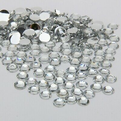 1500 High Quality Crystal Clear Flat back Rhinestone Diamante Gems 3 4 5 6mm