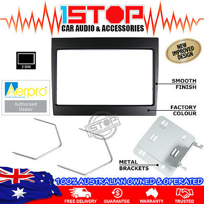 Holden Commodore Vy-Vz Black Double-Din Facia Fascia Kit + Radio Removal Tools