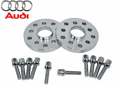2 Pc Audi ( 12 MM Thick ) Hub Centric Wheel Spacers W/10 Extended Lug Bolts
