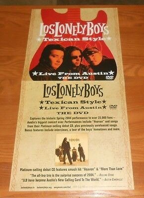 Los Lonely Boys Texican Style 2004 Promo 2-Sided Flat Poster 24x12 RARE