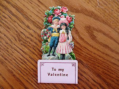 1920s Valentine's Day Pop Up 3D Card Children Hearts Unused Germany Made