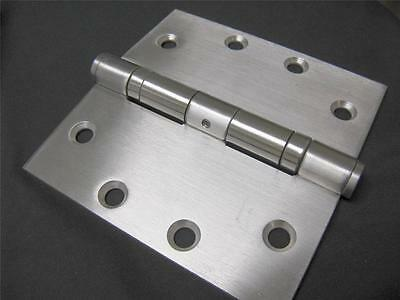 4.5 x 4.5 Ball Bearing Door Hinge Stainless Steel NRP US32D/ 630 - 6 Hinge Pack