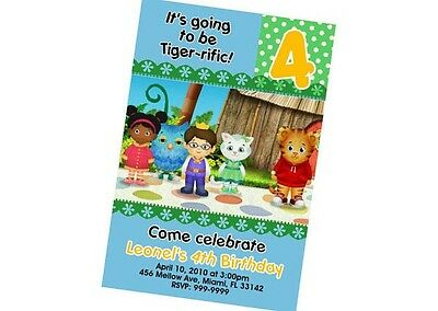 Daniel The Tiger Birthday Invitation 24hr Service UPRINT 4x6 or 5x7