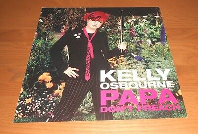 Kelly Osbourne Papa Don't Preach 2-Sided Flat Square Poster 12x12 RARE