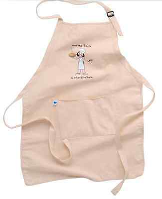 Apron - Solid Natural Nurses Rock in the Kitchen - 100% Cotton By Nurse Mates