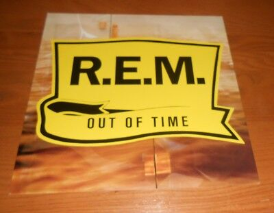 R.E.M. Out of Time 2-Sided Flat Square 1991 Promo Poster 12x12
