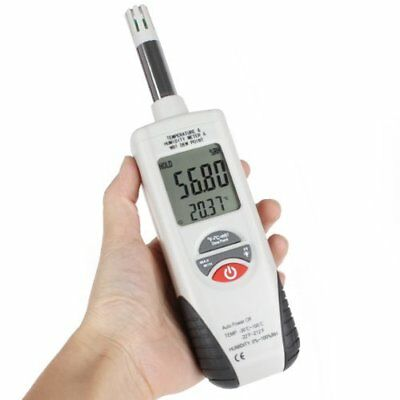 Digital Temperature Humidity Meter Hygrometer Psychrometer w/ Dew Point Wet Bulb
