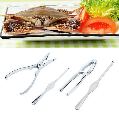 Stainless Steel Forks Crackers Seafood Shellfish Tool Set Nut Pick Lobster Crab