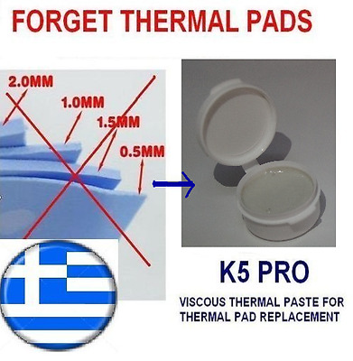 K5-PRO gummy sticky thermal paste grease XBOX 320GB thermal pad replacement 20g