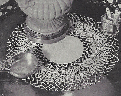 Vintage Crochet Pattern To Make Cluny Lace Doily Centerpiece Mat