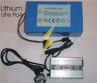 Lithium Battery LiFe Po4 36 volt and charger Electric E scooter Etc