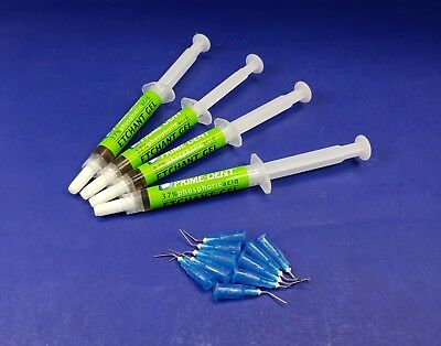 Dental Etchant Gel Kit 4 Syringe Set 4gm Phosphoric Acid 37% PRIMEDENT USA