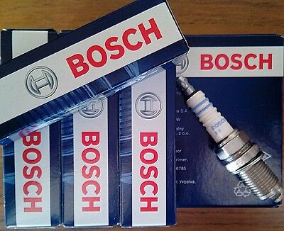 4 PEZZI CANDELA ACCENSIONE FIAT PANDA 1.2 Bi-Power / Natural Power 60CV BOSCH