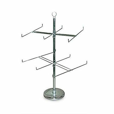 "Retail Store Display Hanging Counter Top Spinner Rack - 2-Tier Wire 25""H"