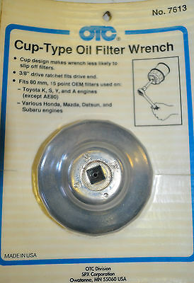 Otc 7613 Toyota 80Mm 15 Points  Oil Filter Wrench Cup Type Made In Usa