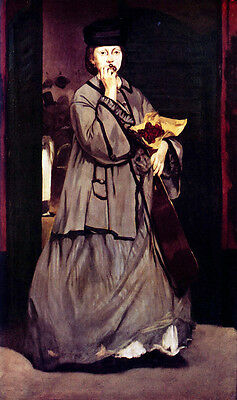 Wonderful Oil painting Edouard Manet - Street singer - young woman standing