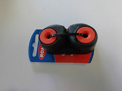CLEATS - Ronstan Medium C-Cleat Cam Red Black Base RF5410R