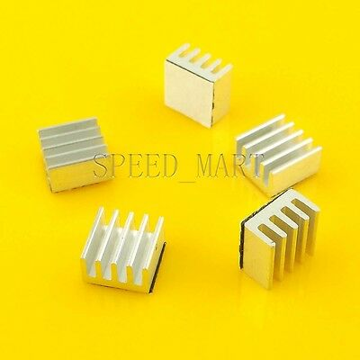 5pcs Aluminum Heat Sink for StepStick A4988 IC Thermal Adhesive 8.8*8.8*5mm