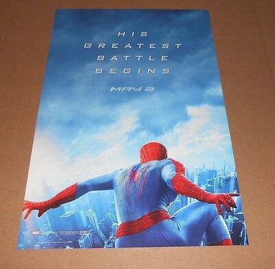 The Amazing Spider man 2 Original Promo 2014 Movie Poster 2-Sided 11x17