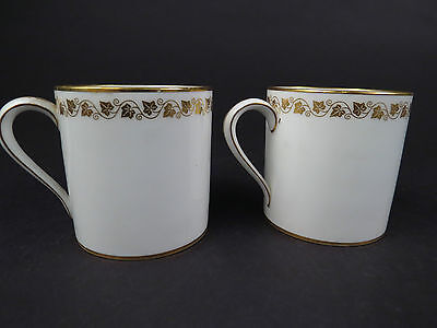 VTG Lot of 2 Dore A Sevres French Porcelain Espresso Cappuccino Cup Gilt