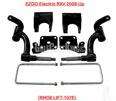 """RHOX 6"""" Drop Spindle Lift Kit for EZGO RXV Electric 2008-2013 Golf Cart"""