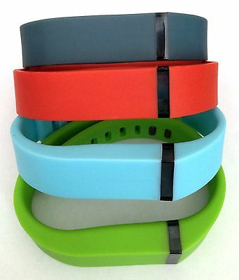 Set Large Light Blue Red Green Slate Band + Clasps For Fitbit Flex /No Tracker