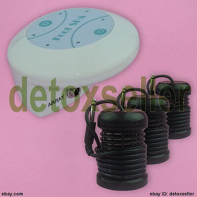 Simple Ionic Ion Detox Foot Bath Spa Detoxification Aqua Cell Cleanse 3 Arrays