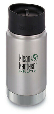 NEW KLEAN KANTEEN INSULATED WIDE 12oz 355ml Brushed STAINLESS BPA FREE SAVE !