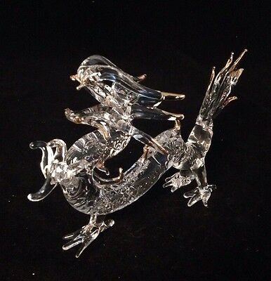 Glass Chinese Feng Shui Dragon. Handmade (S)