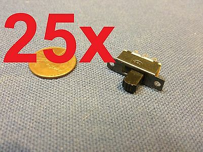 25x  Mini SPDT Slide Switch On-Off PCB 6P 2T 23.3*7.3MM pitch row 19MM toggle c1