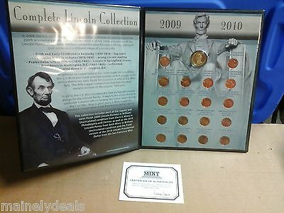 2009/2010 P&d Complete Lincoln Collection Cent Dollar Proof Set