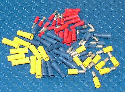 100 Assorted Insulated Bullet Connector Electrical Crimp Terminals Cable/wire