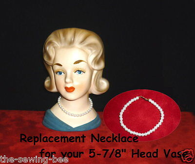 """Replacement Necklace Jewelry for 5-7/16"""" Vintage Head - Vase Headvase"""