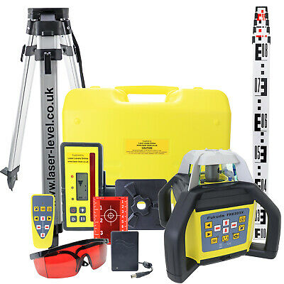 Auto Rotary Laser Level kit incl. vertical / squaring / grading + Tripod & Staff