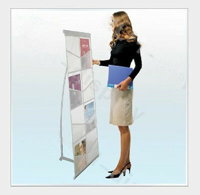 A4 Portable Folding Exhibition Double Lane Brochure Display Stand With Carry Bag