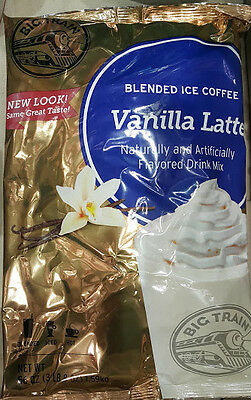 3.5 lb Big Train Vanilla Latte Blended Ice Coffee Mix,Iced,Cold Drink,Beverage