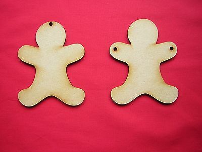 5 x Mdf Gingerbread Man 4mm thick 10cm Long x 7.5cm Wide