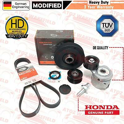 For Honda Civic 2.2 CDTI Diesel Alternator drive belt crank tensioner Pulley kit