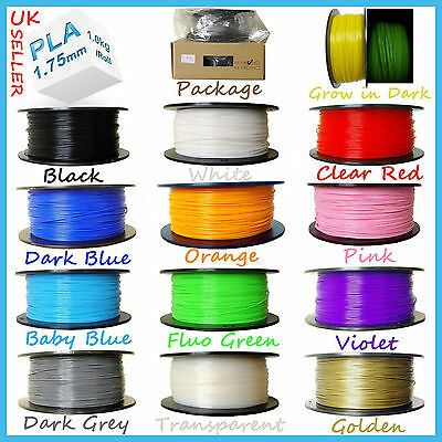 Filament PLA/ABS 1.75mm/3mm 3D Print Printing Material Printer Pen Project 1kg/R