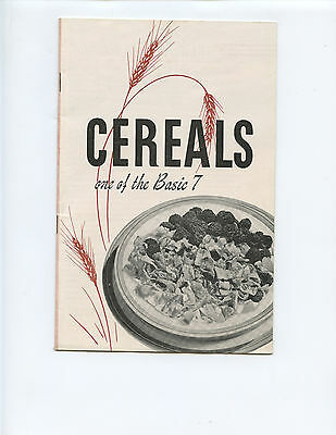 """1943 General Foods """"cereals"""" Booklet (23 Pages, Post Toasties, Bran, Grape-Nuts)"""