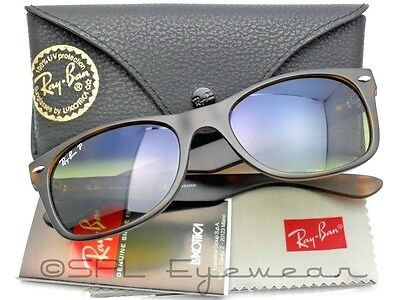 d3d800e015c Ray Ban New Wayfarer Matte RB 2132 894 76 Tortoise Polarized Blue Gradient  55 mm