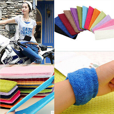 Fashion Comfy Cotton Terry Cloth Flexible Headband Sweatband Sports Yoga