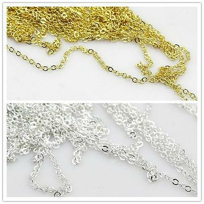 1.2mm Quality Silver or Gold Cross Fine Chains Jewellery Making 5m 10m  20m 100m